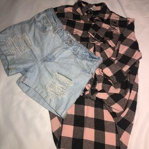 Short y camisa manga larga